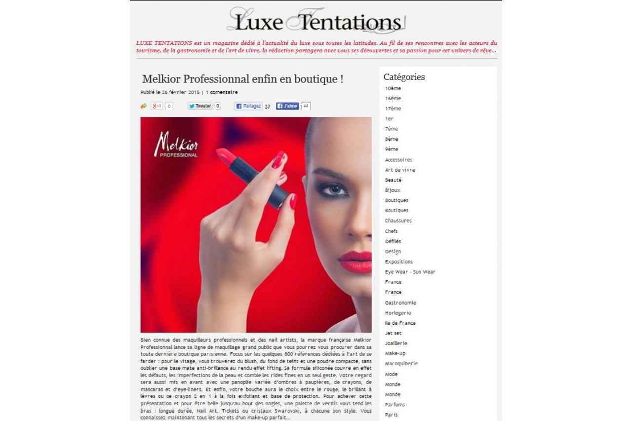Luxe Tentation - Février 2015
